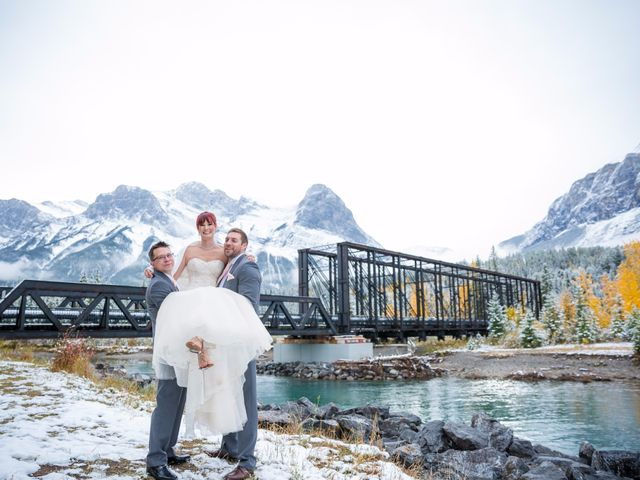 Zack and Laura's wedding in Canmore, Alberta 39