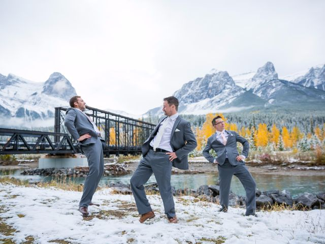 Zack and Laura's wedding in Canmore, Alberta 42