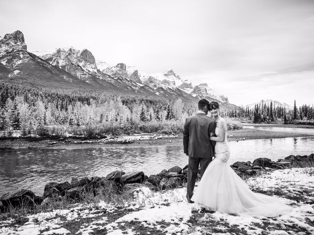 Zack and Laura's wedding in Canmore, Alberta 43