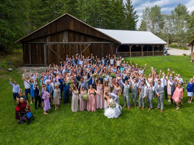 Graham and Chelsey's wedding in Salmon Arm, British Columbia 10