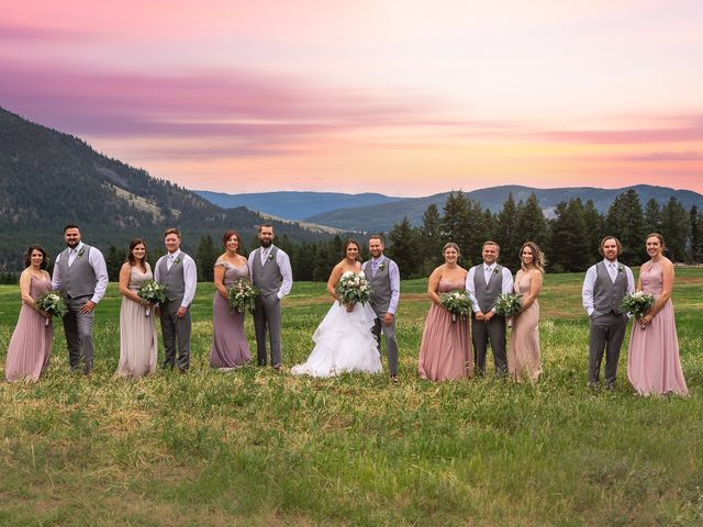 Graham and Chelsey's wedding in Salmon Arm, British Columbia 2