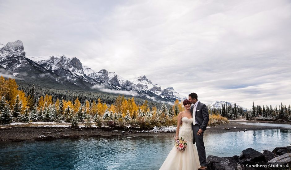 Zack and Laura's wedding in Canmore, Alberta
