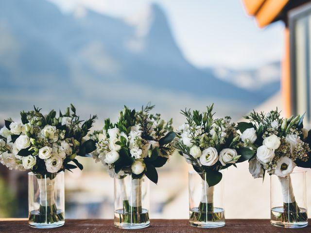 Dustin and Desaree's wedding in Canmore, Alberta 4
