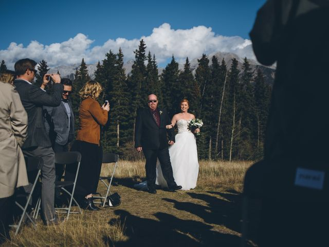 Dustin and Desaree's wedding in Canmore, Alberta 17
