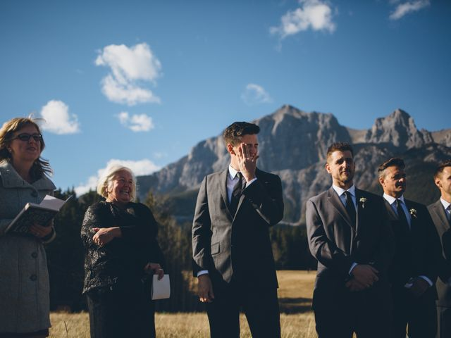 Dustin and Desaree's wedding in Canmore, Alberta 18