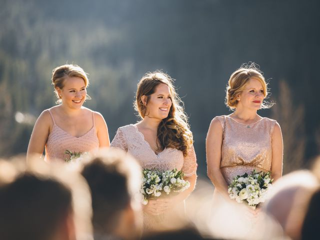 Dustin and Desaree's wedding in Canmore, Alberta 19