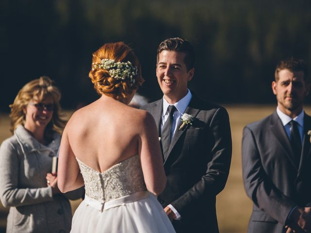 Dustin and Desaree's wedding in Canmore, Alberta 22