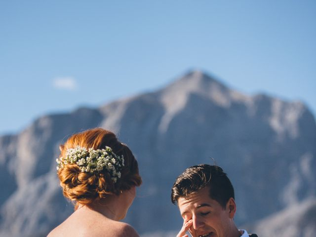 Dustin and Desaree's wedding in Canmore, Alberta 24