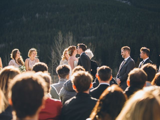 Dustin and Desaree's wedding in Canmore, Alberta 25