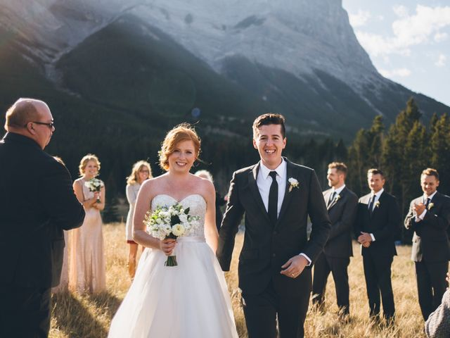Dustin and Desaree's wedding in Canmore, Alberta 27
