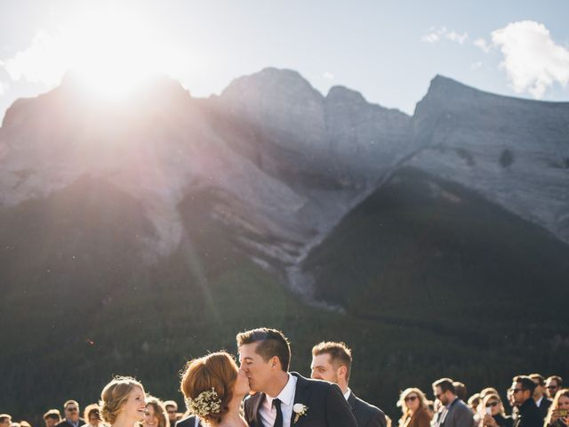 Dustin and Desaree's wedding in Canmore, Alberta 1