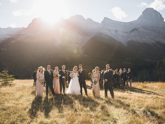 Dustin and Desaree's wedding in Canmore, Alberta 28