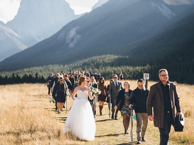 Dustin and Desaree's wedding in Canmore, Alberta 29