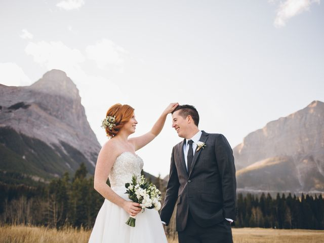 Dustin and Desaree's wedding in Canmore, Alberta 31