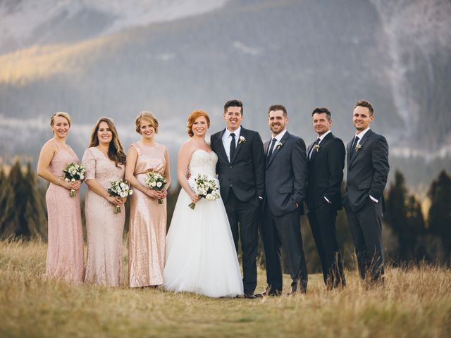 Dustin and Desaree's wedding in Canmore, Alberta 33