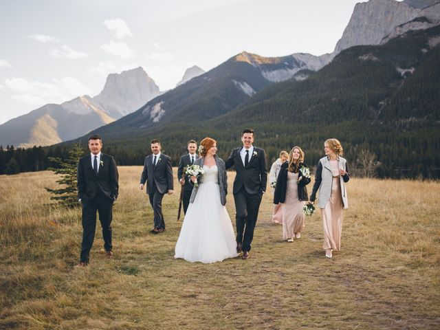 Dustin and Desaree's wedding in Canmore, Alberta 35