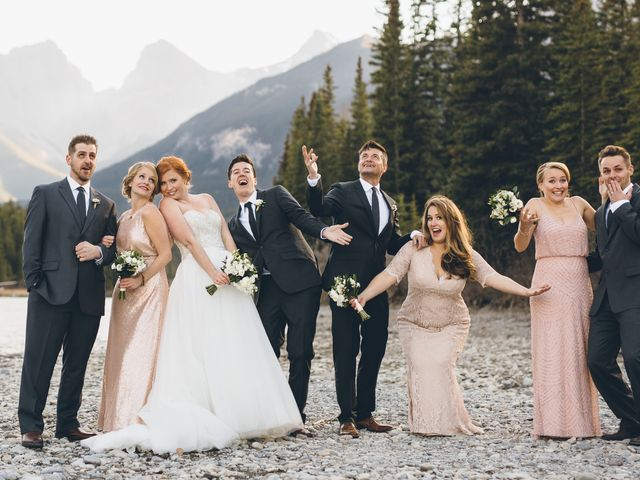 Dustin and Desaree's wedding in Canmore, Alberta 36