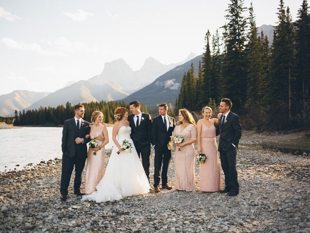 Dustin and Desaree's wedding in Canmore, Alberta 37