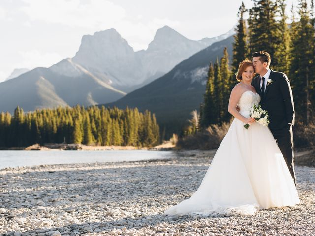 Dustin and Desaree's wedding in Canmore, Alberta 38