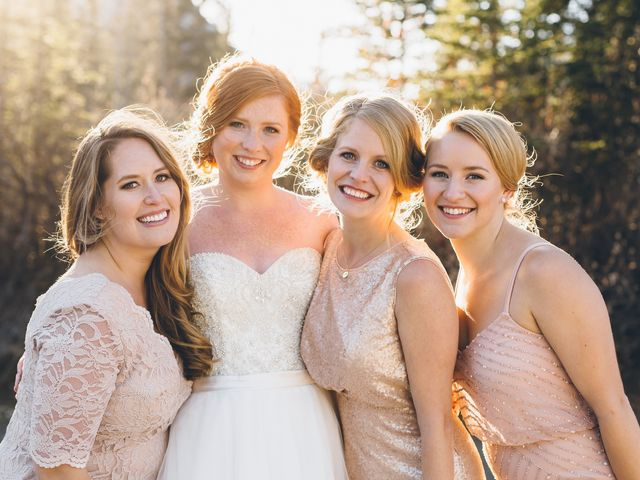 Dustin and Desaree's wedding in Canmore, Alberta 41
