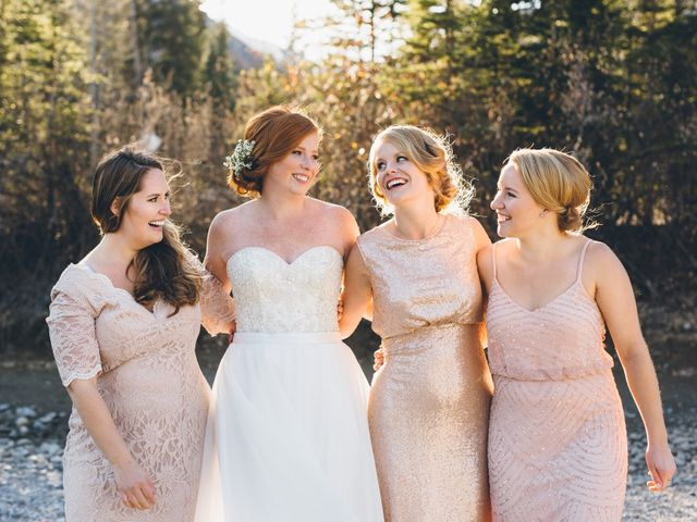 Dustin and Desaree's wedding in Canmore, Alberta 42