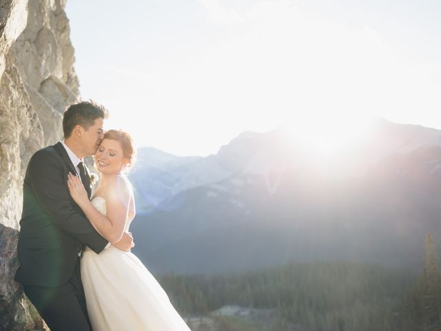 Dustin and Desaree's wedding in Canmore, Alberta 43