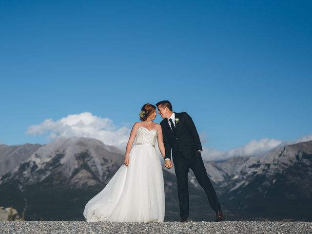 Dustin and Desaree's wedding in Canmore, Alberta 50