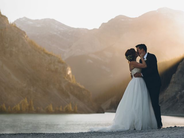 Dustin and Desaree's wedding in Canmore, Alberta 52