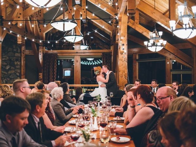 Dustin and Desaree's wedding in Canmore, Alberta 61