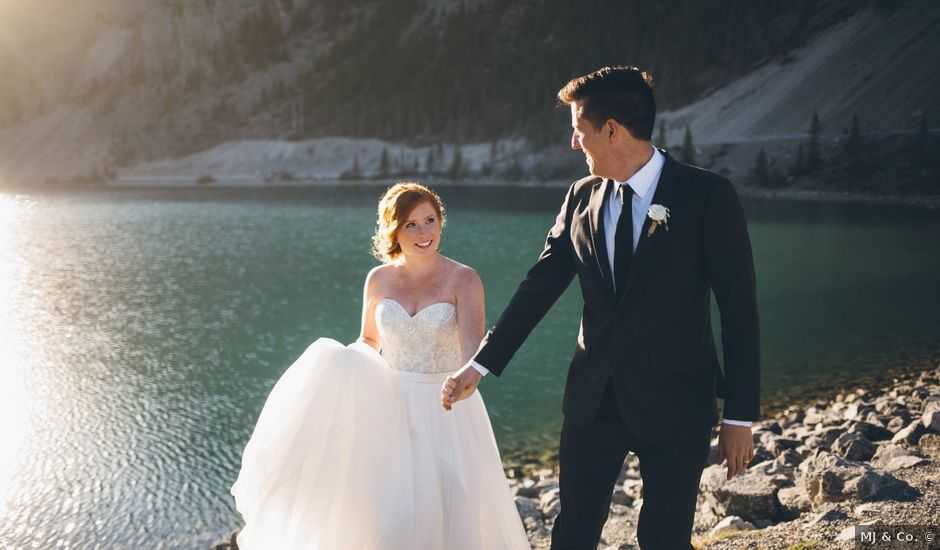 Dustin and Desaree's wedding in Canmore, Alberta
