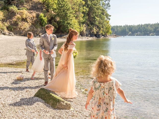 Mike and Stephanie's wedding in Pender Island, British Columbia 22