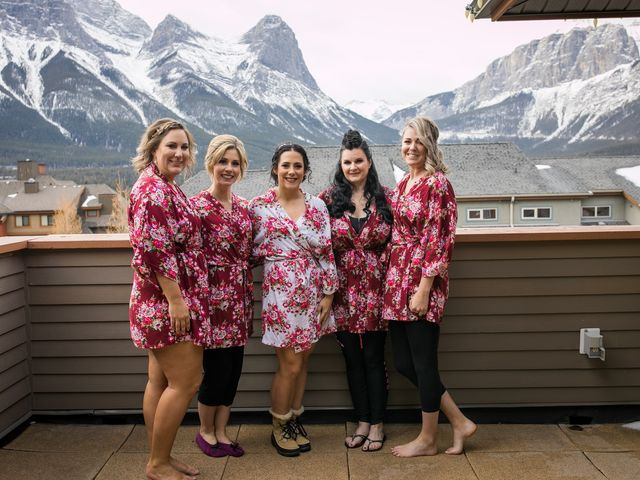 Adam and Erin's wedding in Canmore, Alberta 13