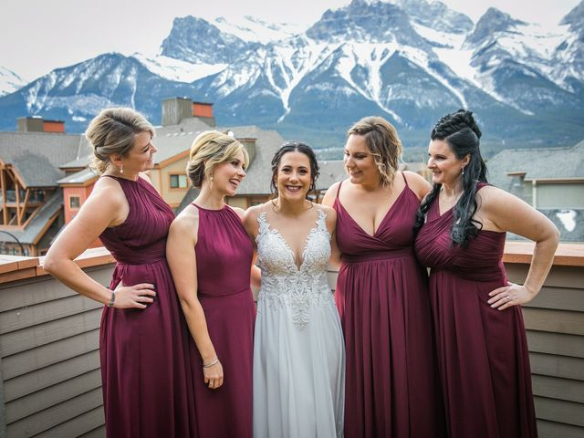 Adam and Erin's wedding in Canmore, Alberta 16