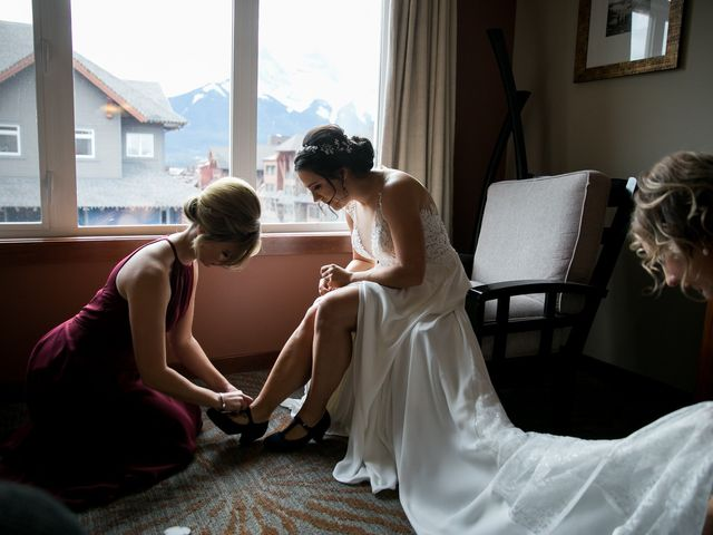 Adam and Erin's wedding in Canmore, Alberta 17