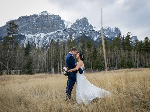 Adam and Erin's wedding in Canmore, Alberta 26