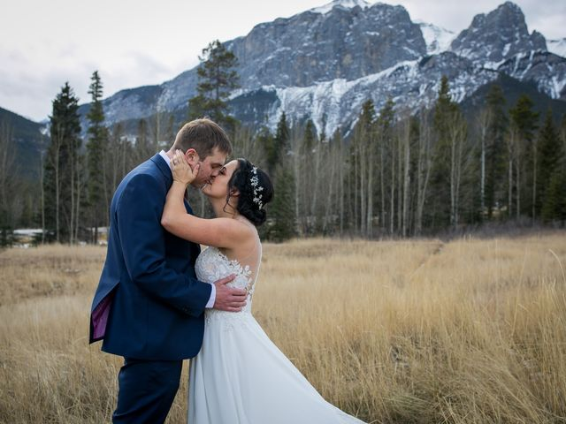 Adam and Erin's wedding in Canmore, Alberta 27
