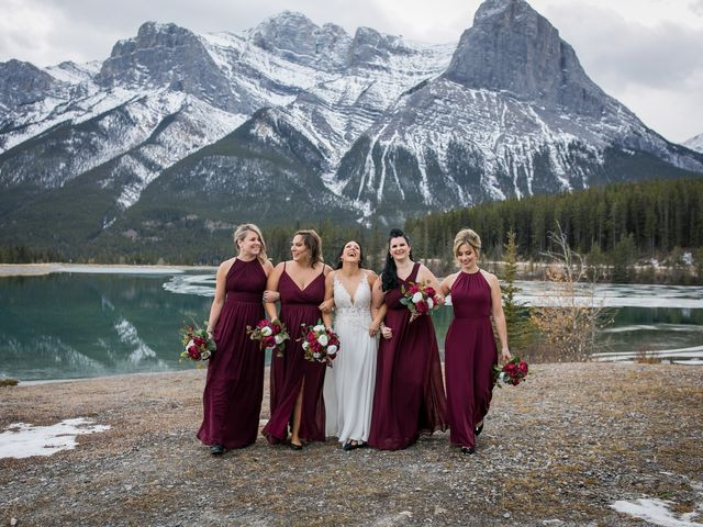 Adam and Erin's wedding in Canmore, Alberta 28
