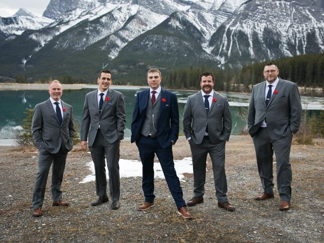 Adam and Erin's wedding in Canmore, Alberta 29
