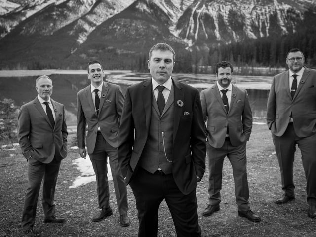 Adam and Erin's wedding in Canmore, Alberta 30