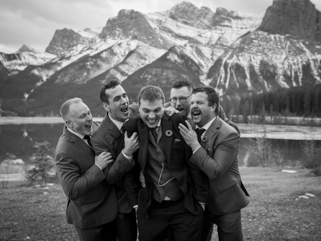 Adam and Erin's wedding in Canmore, Alberta 31