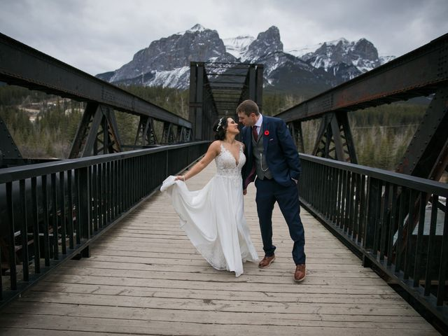 Adam and Erin's wedding in Canmore, Alberta 32