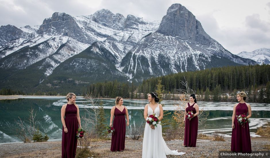 Adam and Erin's wedding in Canmore, Alberta