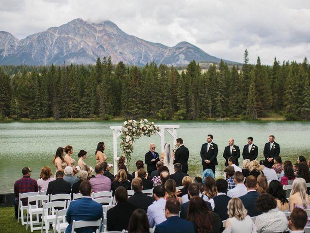Beau and Miranda's wedding in Jasper, Alberta 1