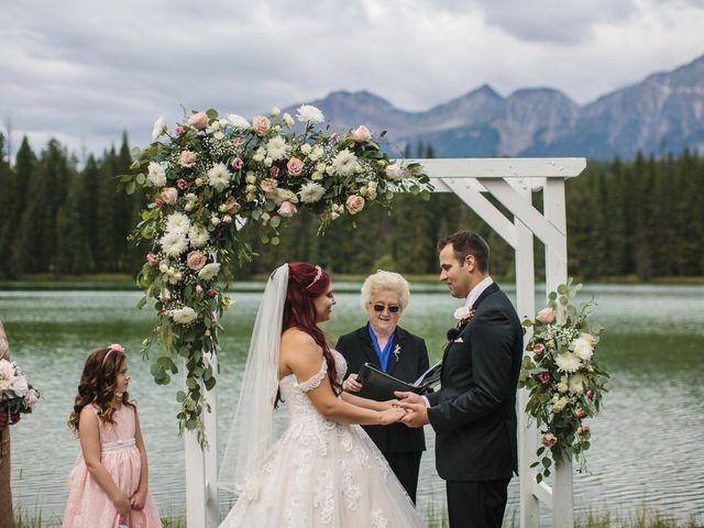 Beau and Miranda's wedding in Jasper, Alberta 5