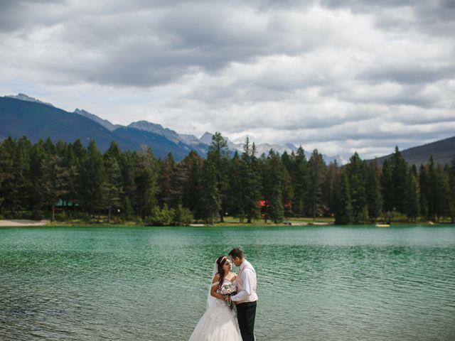 Beau and Miranda's wedding in Jasper, Alberta 10