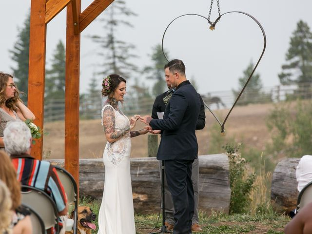 Edward and Andi's wedding in Invermere, British Columbia 1