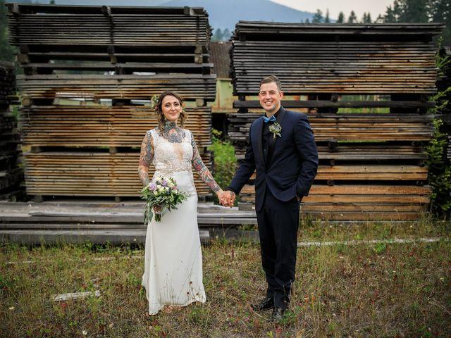 Edward and Andi's wedding in Invermere, British Columbia 2
