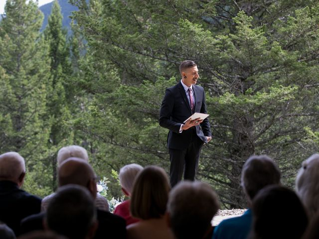Brent and Emma's wedding in Canmore, Alberta 12
