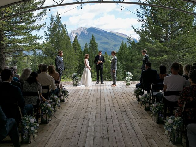 Brent and Emma's wedding in Canmore, Alberta 15
