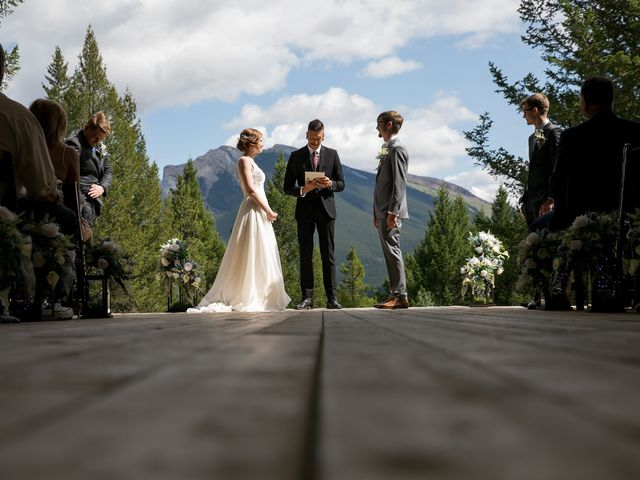 Brent and Emma's wedding in Canmore, Alberta 18
